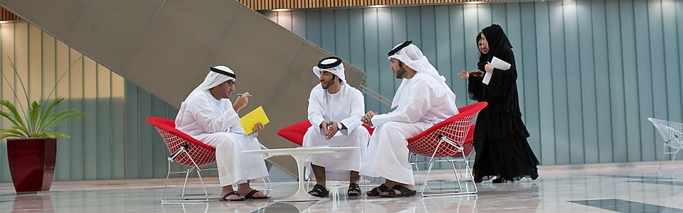 UAE men meeting in the reception